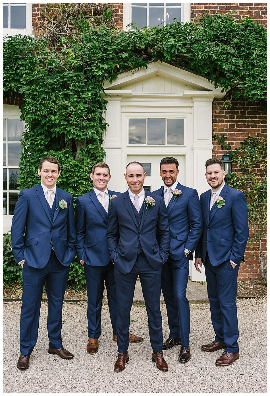 Groom and Groomsmen at Staffordshire wedding