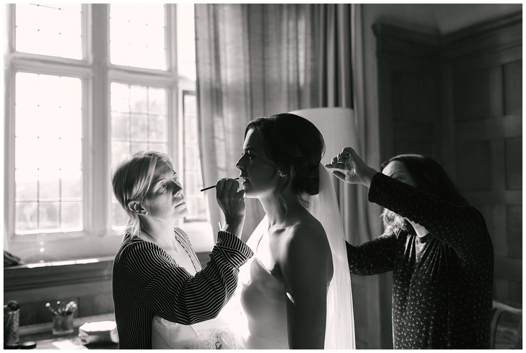 getting ready for your wedding at Tixall Gatehouse