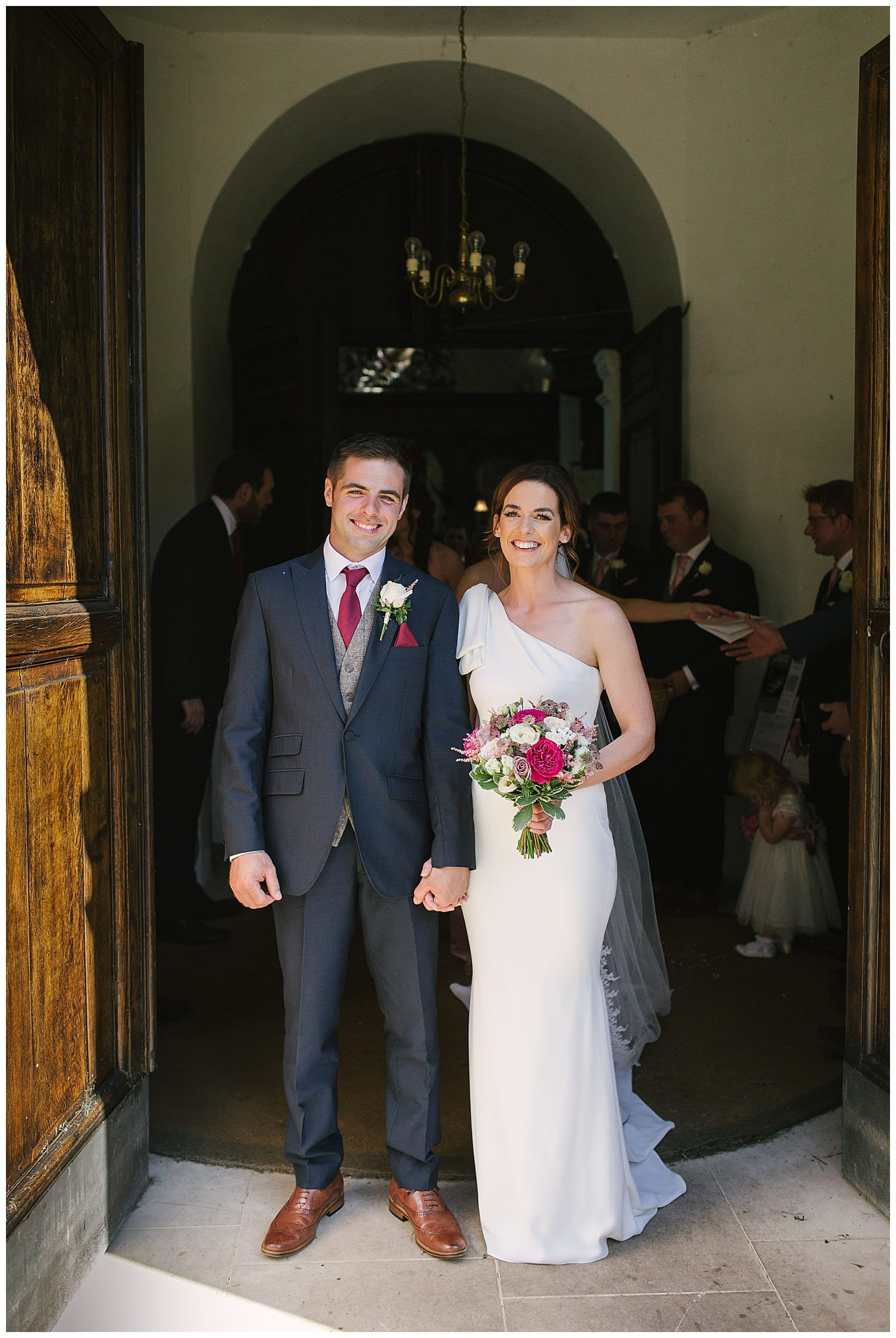 modern farming couple just married at Staffordshire church