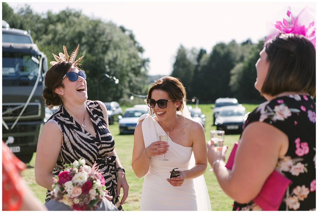 Ingestre wedding photography with relaxed farm reception
