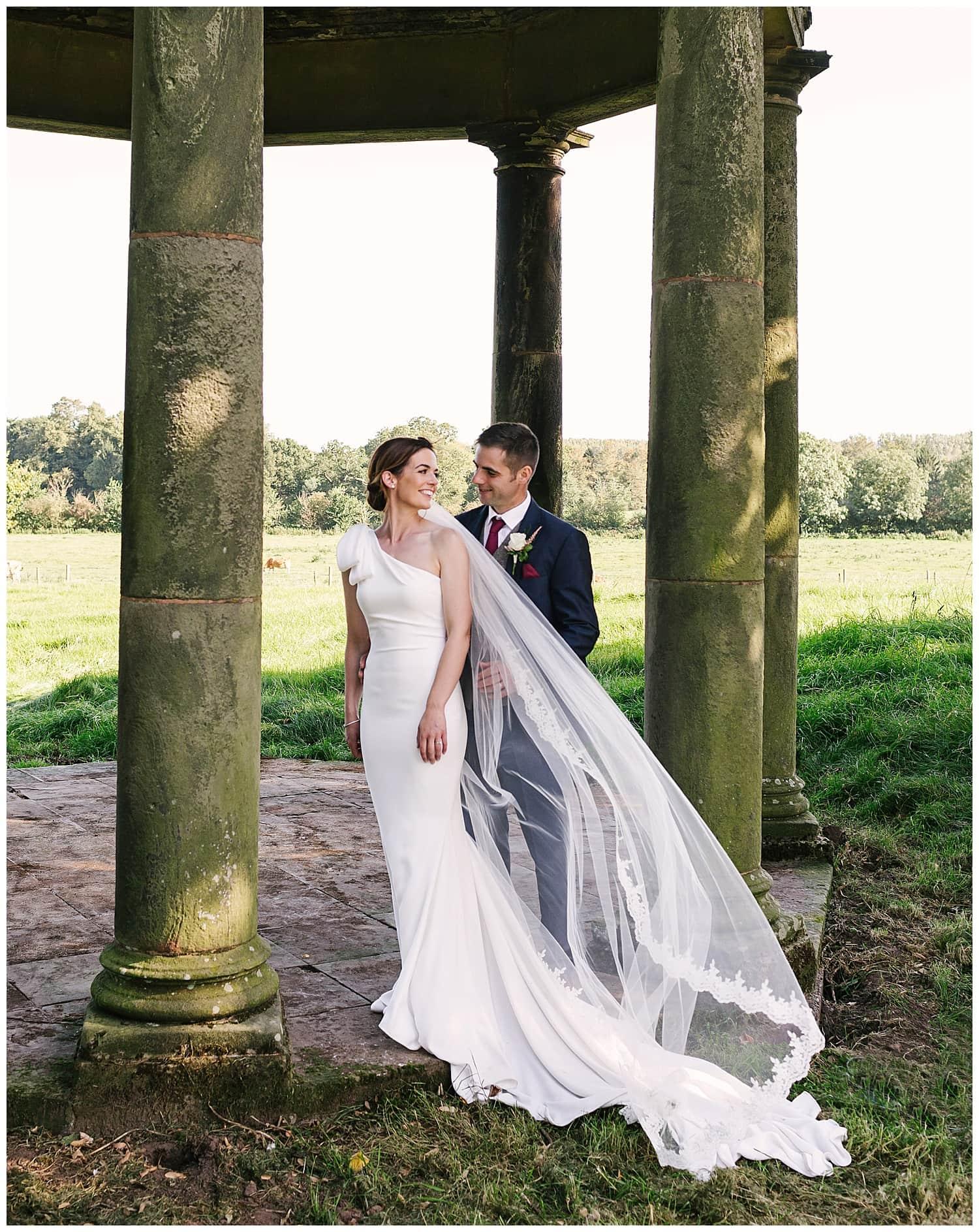 portrait of a modern farming couple on their wedding day