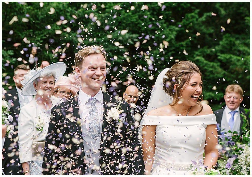 Confetti moment | Classic Bride in Suzanne Neville