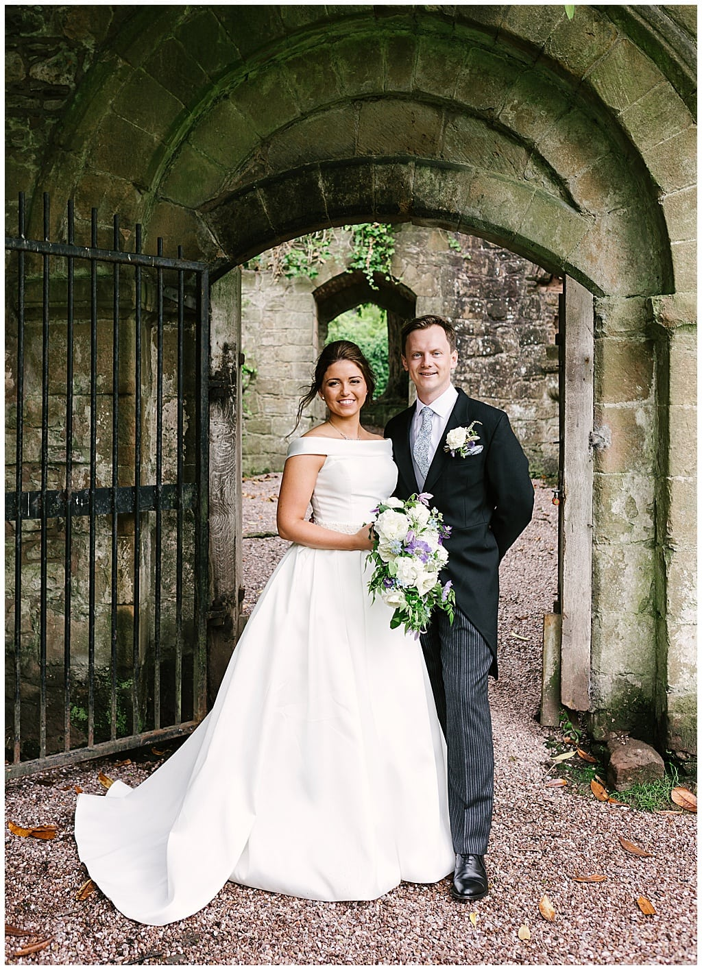 Elegant Suzanne Neville Gown | Lilleshall Abbey wedding photography