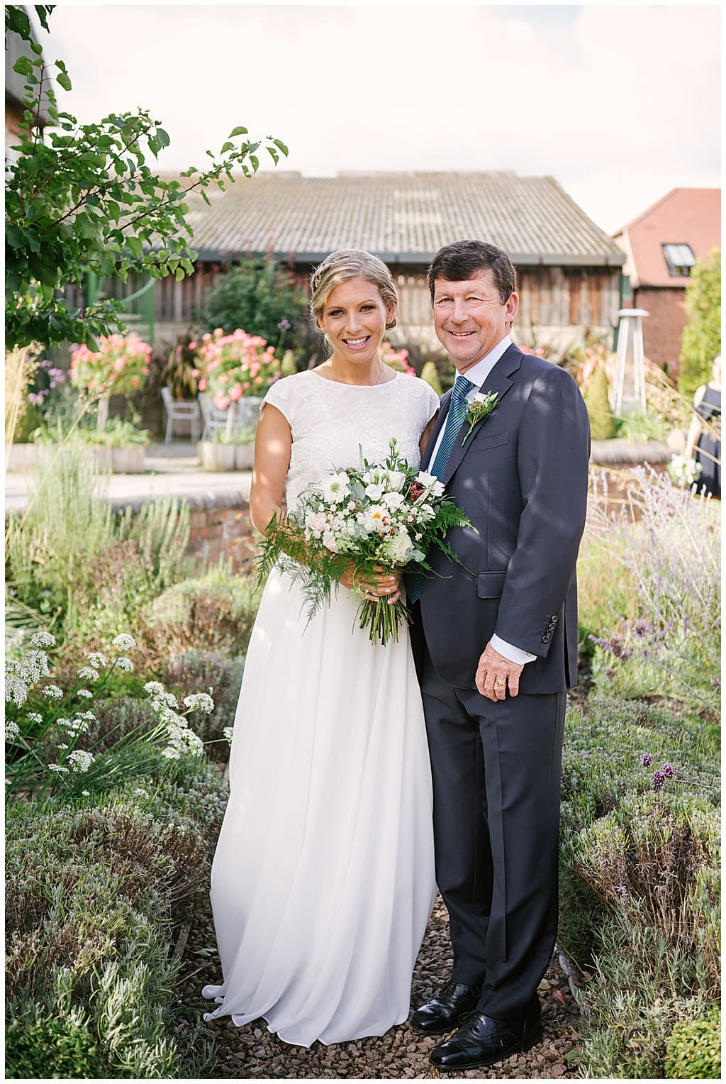 small and intimate wedding at Eckington Mannor