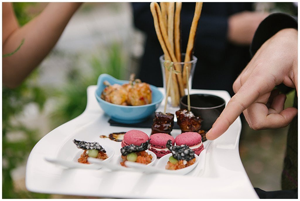 delicious canapés at Eckington Manor in Worcestershire