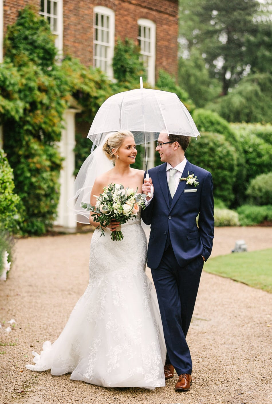 rainy wedding at Alrewas Hayes