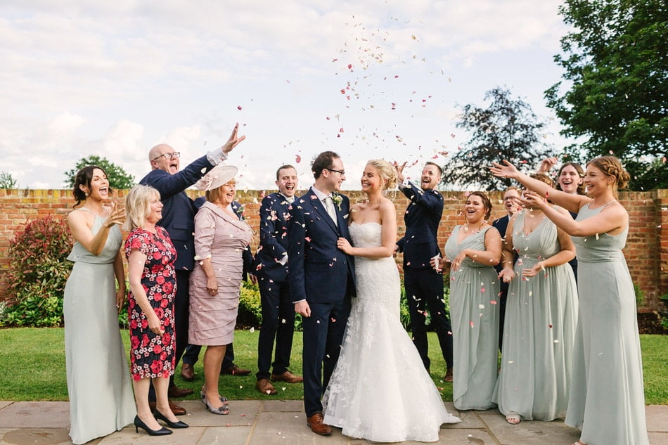 Confetti advice for rain on your wedding day
