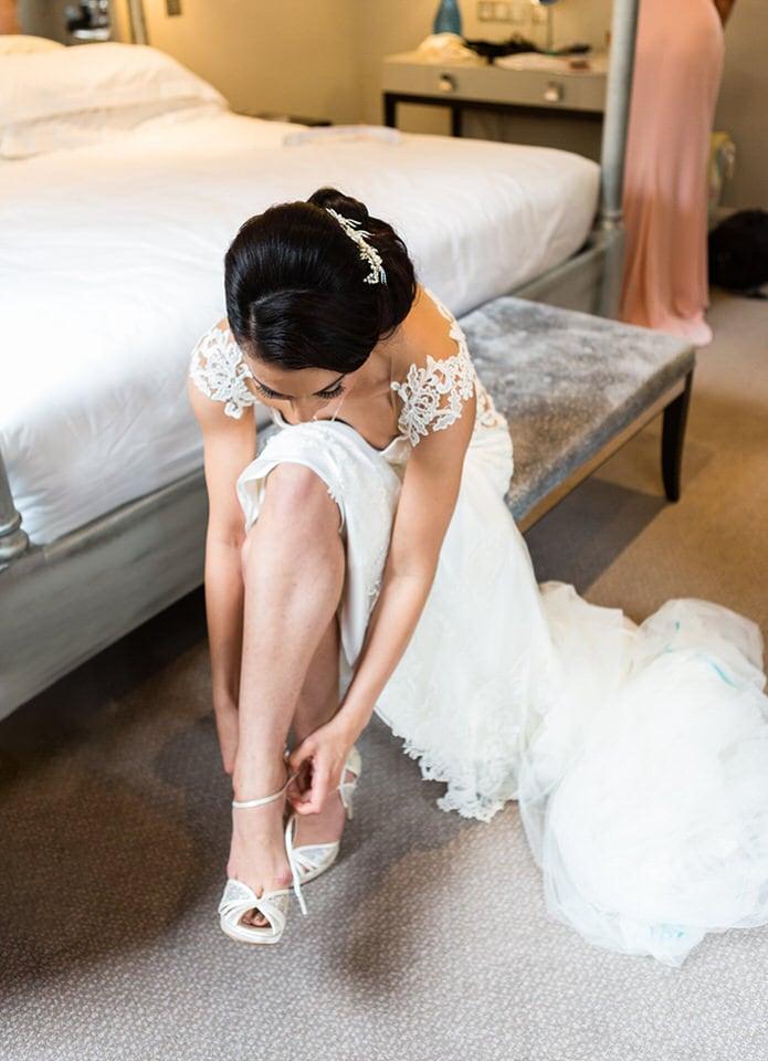 West Midlands Bride getting ready on her wedding day